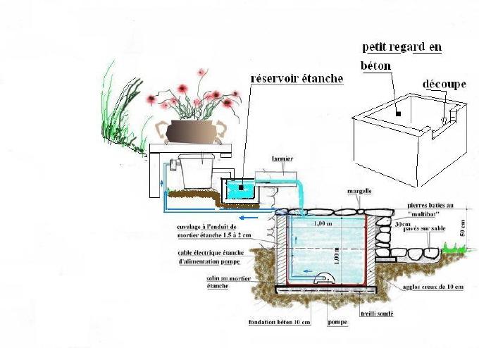 Le bassin de jardin de yanis for Bassin rectangulaire de jardin