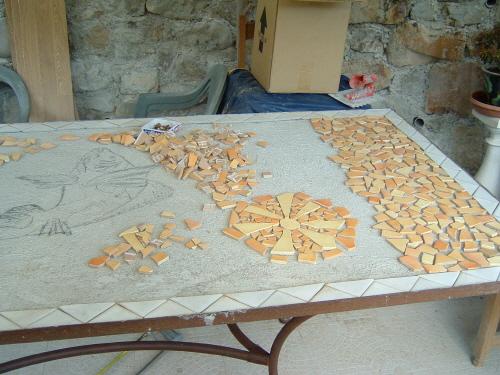 Fabriquer une table en mosaique - Salon de jardin mosaique ...