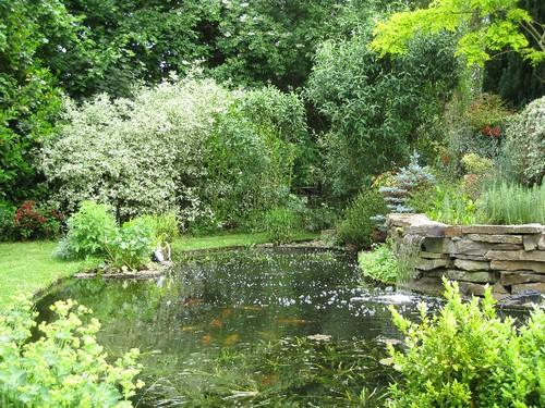 Le bassin de jardin de Christian de Spiennes en Belgique