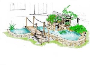 D coration bassin dans un tonneau dijon 3223 dijon cereales darcey dijon paris distance - Bassin japonais dessin dijon ...