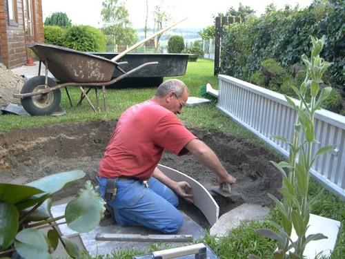 bassin de jardin de Marc en Belgique